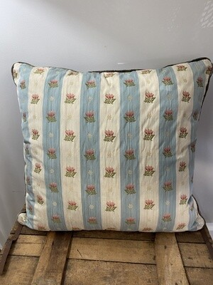 Embroidered silk scatter cushions