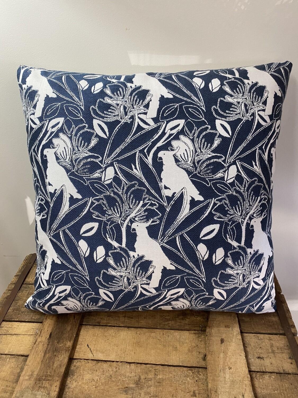 Indoor/Outdoor scatter cushions - Beach Bird in Denim