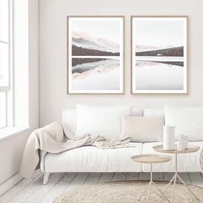 PAIR SPECIAL! The Lake I & II framed set