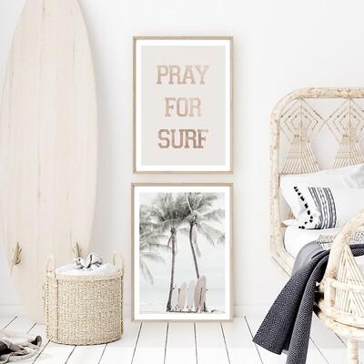 Pray For Surf and Vintage Surfboards Set *SAVE*