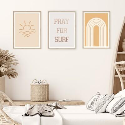 Sunkissed Surf Print Set