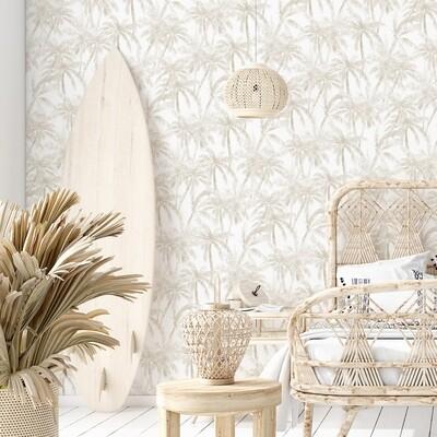 Tahitian Palms Removable Wallpaper