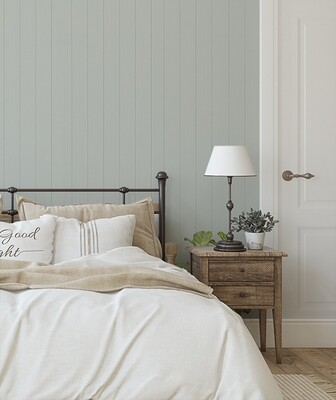 Wood Panelling Look Removable Wallpaper - Spanish Olive