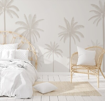 Neutral Palms Landscape Removable Wallpaper