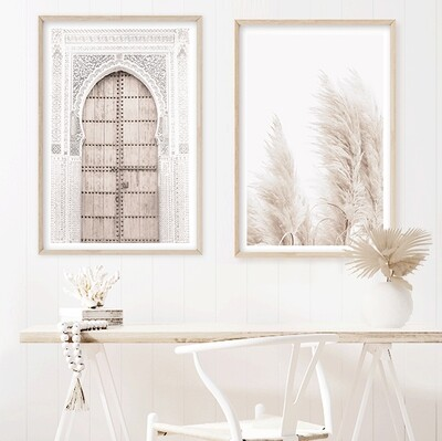 *SPECIAL* Moroccan Door & Coastal Pampas Grass (portrait) set