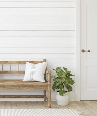 Wood Panelling - white shiplap