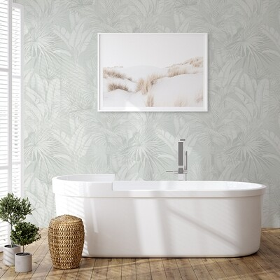 Luxe Palms - Pale Sage Removable Wallpaper