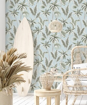 Cool Palms Removable Wallpaper