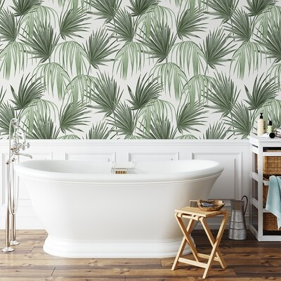 Tropical Fronds Removable Wallpaper