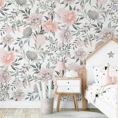 Flower Bomb Removable Wallpaper