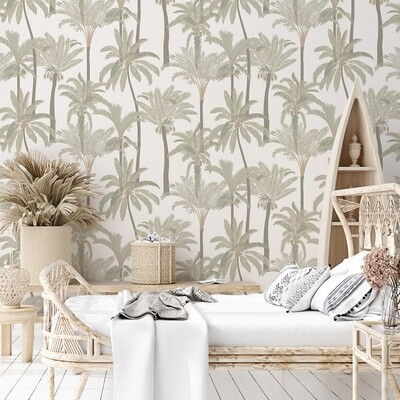 Tropical Oasis Removable Wallpaper