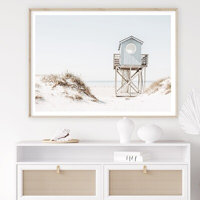 Blue Beach House (portrait or landscape)