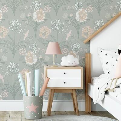 Sage Garden Removable Wallpaper