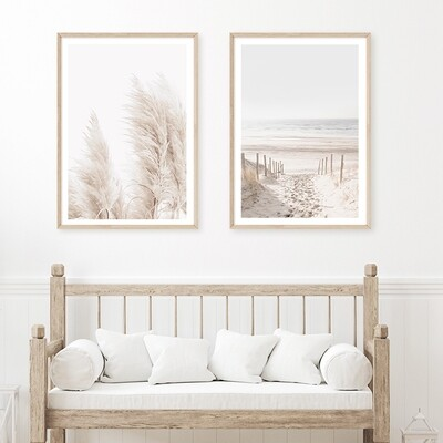*SPECIAL* Dune Path II & Coastal Pampas Grass (portrait) set