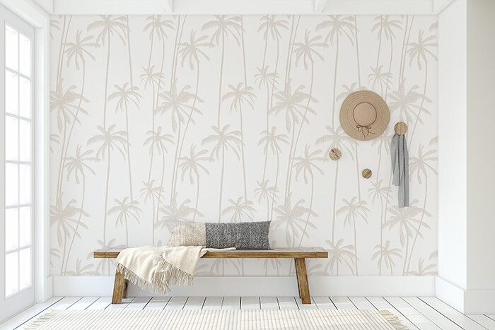 Neutral Palms Removable Wallpaper