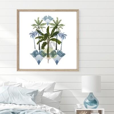 Boho Tropical Palms - Blue