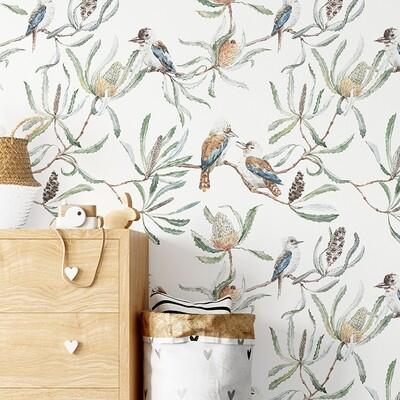 Australian Kookaburras Removable Wallpaper