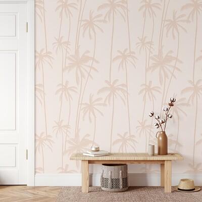 Sunset Palms Removable Wallpaper