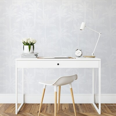 Pale Grey Palms Removable Wallpaper