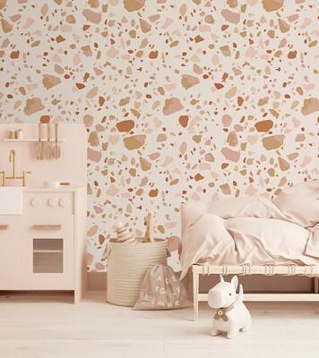 Earth Terrazzo Removable Wallpaper