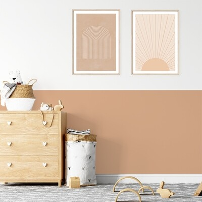Solid Colour Block Removable Wallpaper (pick your colour)