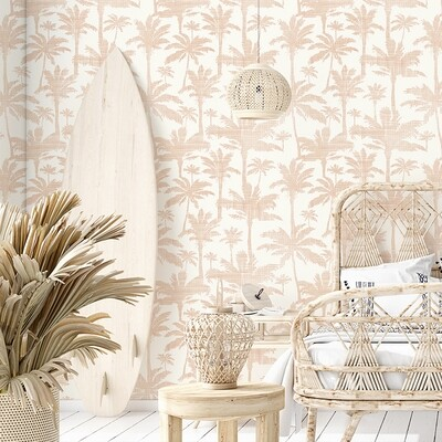 Rusty Palms Removable Wallpaper