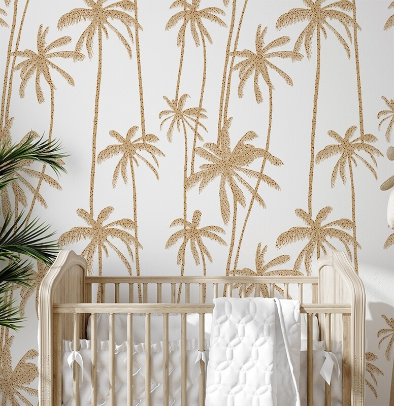 Polka Palms Removable Wallpaper