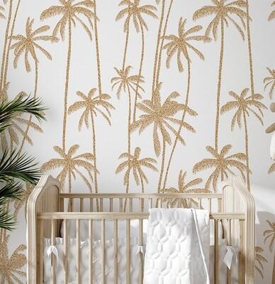 Polka Palms Removable Wallpaper