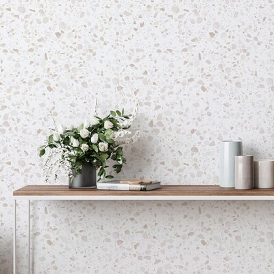 Neutral Terrazzo Removable Wallpaper