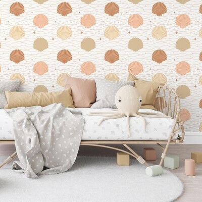 Boho Shell Removable Wallpaper