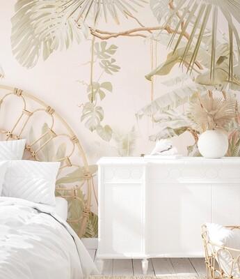Blush Jungle Mural