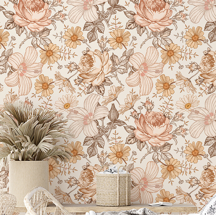 Maddie - Hippy Vibes Removable Wallpaper
