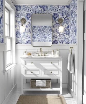 Hamptons Floral Removable Wallpaper