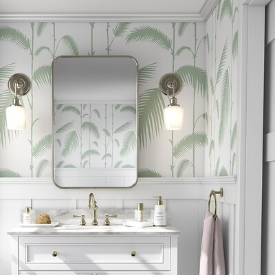 Palm Reeds (Green) Removable Wallpaper
