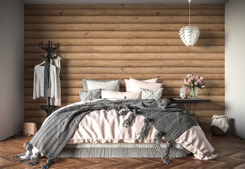 Log Cabin Removable Wallpaper (3 colours)