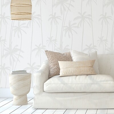 Neutral Palms (Grey) Removable Wallpaper