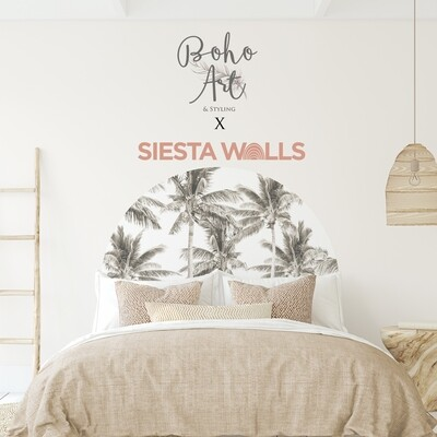 Boho Palms Headboard (Siesta Walls Collaboration)