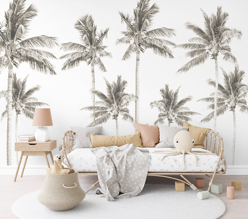 Palm Tree Mural - Extra Palms
