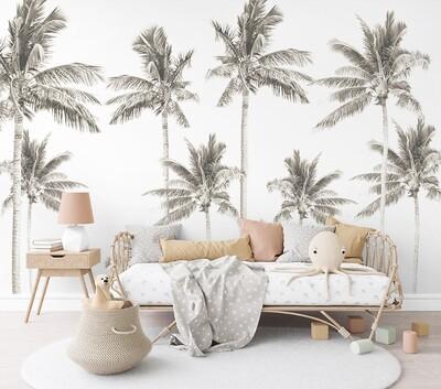 Palm Tree Mural - Extra Palms