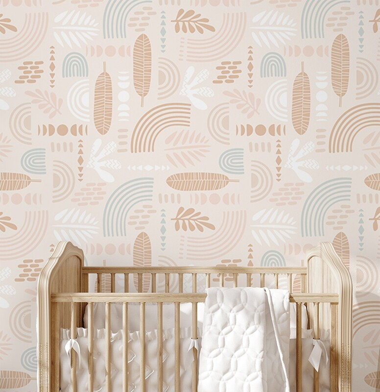 Nature Tribe Removable Wallpaper