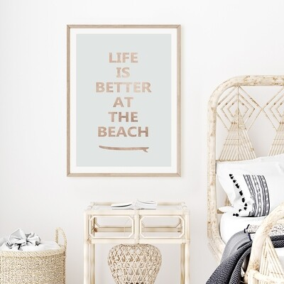 Life is Better at the Beach II (colour options)