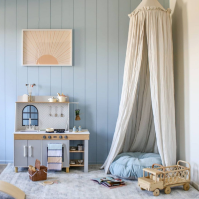 Clean Blue Panels Removable Wallpaper
