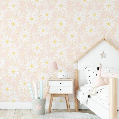 Gracie's Daisies Removable Wallpaper
