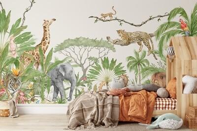Animalia Utopia Removable Wallpaper Mural
