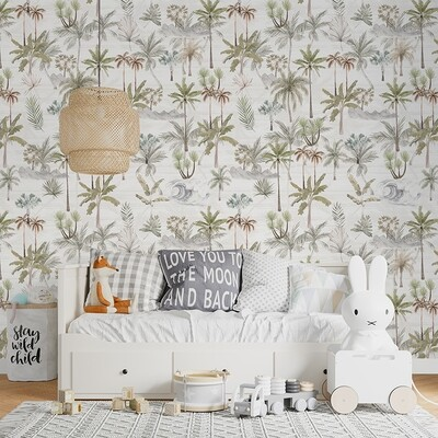 Aloha Palms Removable Wallpaper