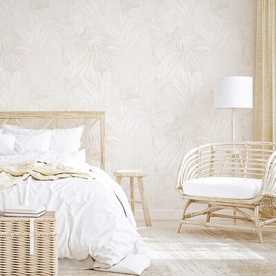 Luxe Palms Removable Wallpaper - Natural