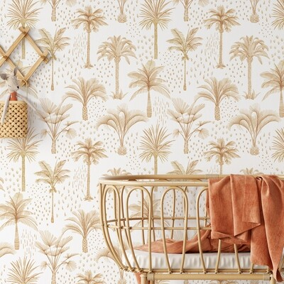 Bronzed Palms Removable Wallpaper