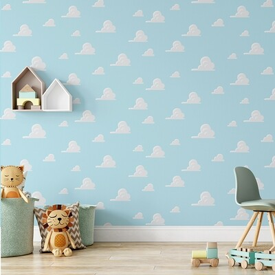 Andy's Clouds Removable Wallpaper