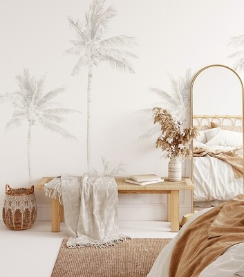 Faded Palms Removable Wallpaper