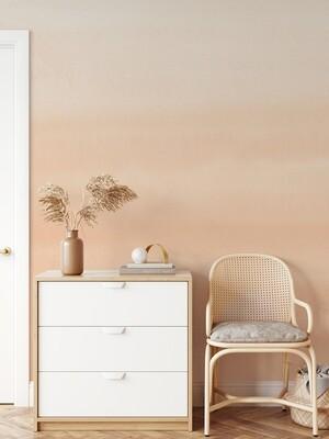 Ombre Peach-terra Removable Wallpaper